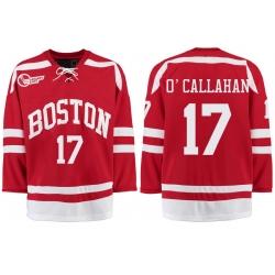 Boston University Terriers BU 17 Jack OCallahan Red Stitched Hockey Jersey