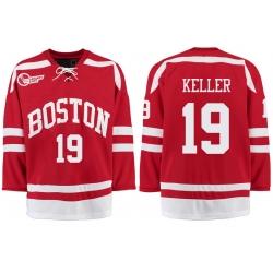 Boston University Terriers BU 19 Clayton Keller Red Stitched Hockey Jersey