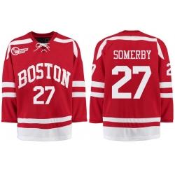 Boston University Terriers BU 27 Doyle Somerby Red Stitched Hockey Jersey