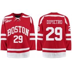 Boston University Terriers BU 29 Rick Dipietro Red Stitched Hockey Jersey