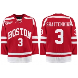 Boston University Terriers BU 3 Kevin Shattenkirk Red Stitched Hockey Jersey