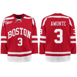 Boston University Terriers BU 3 Tony Amonte Red Stitched Hockey Jersey
