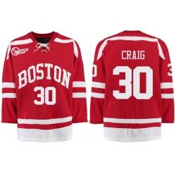 Boston University Terriers BU 30 Jim Craig Red Stitched Hockey Jersey