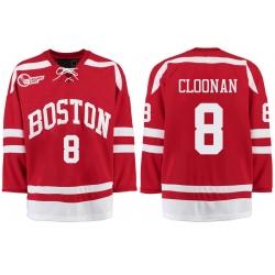 Boston University Terriers BU 8 Ryan Cloonan Red Stitched Hockey Jersey