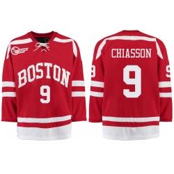 Boston University Terriers BU 9 Alex Chiasson Red Stitched Hockey Jersey