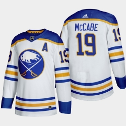 Buffalo Sabres 19 Jake Mccabe Men Adidas 2020 21 Away Authentic Player Stitched NHL Jersey White