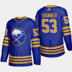 Buffalo Sabres 53 Jeff Skinner Men Adidas 2020 21 Home Authentic Player Stitched NHL Jersey Royal Blue