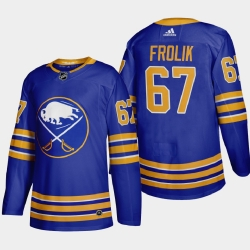 Buffalo Sabres 67 Michael Frolik Men Adidas 2020 21 Home Authentic Player Stitched NHL Jersey Royal Blue