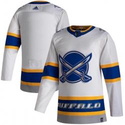 Men Buffalo Sabres Blank White 2020 21 Reverse Retro Adidas Jersey