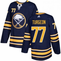 Mens Adidas Buffalo Sabres 77 Pierre Turgeon Authentic Navy Blue Home NHL Jersey