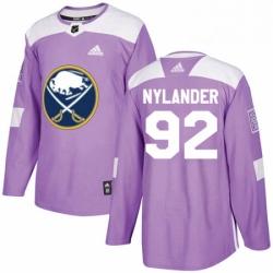 Mens Adidas Buffalo Sabres 92 Alexander Nylander Authentic Purple Fights Cancer Practice NHL Jersey