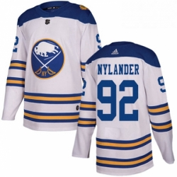 Mens Adidas Buffalo Sabres 92 Alexander Nylander Authentic White 2018 Winter Classic NHL Jersey