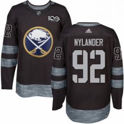 Mens Adidas Buffalo Sabres 92 Alexander Nylander Premier Black 1917 2017 100th Anniversary NHL Jersey