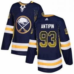 Mens Adidas Buffalo Sabres 93 Victor Antipin Authentic Navy Blue Drift Fashion NHL Jersey