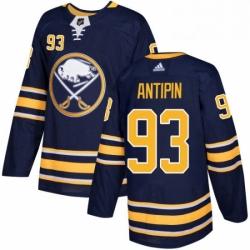 Mens Adidas Buffalo Sabres 93 Victor Antipin Authentic Navy Blue Home NHL Jersey