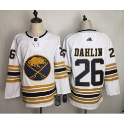 Sabres 26 Rasmus Dahlin White 50th Anniversary Adidas Jersey