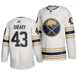 Sabres 43 Conor Sheary White 50th Anniversary Adidas Jersey