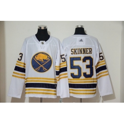 Sabres 53 Jeff Skinner White 50th Season Authentic Stitched Hockey Jersey