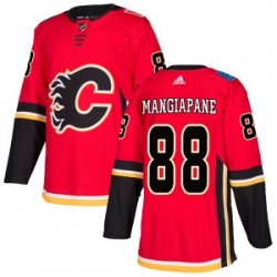 Men Calgary Flames 88 Andrew Mangiapane Adidas Authentic Home Red Jersey