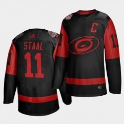 Carolina Hurricanes 11 Jordan Staal Black Men 2021 Stadium Series Outdoor Game Jersey