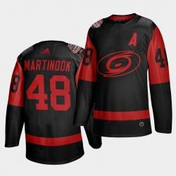 Carolina Hurricanes 48 Jordan Martinook Black Men 2021 Stadium Series Outdoor Game Jersey