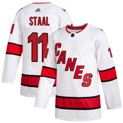 Hurricanes 11 Jordan Staal White Road Authentic Stitched Hockey Jersey
