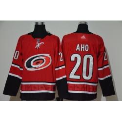 Men Carolina Hurricanes 20 Sebastian Aho Red Adidas Jersey