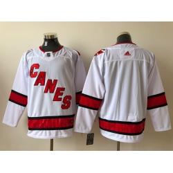 Men Carolina Hurricanes Blank White Adidas Reverse Retro Jersey