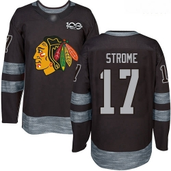 Blackhawks #17 Dylan Strome Black 1917 2017 100th Anniversary Stitched Hockey Jersey