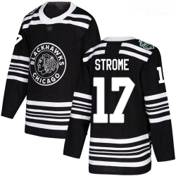 Blackhawks #17 Dylan Strome Black Authentic 2019 Winter Classic Stitched Hockey Jersey