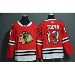 Blackhawks 19 Jonathan Toews Red Fashion Adidas Jersey