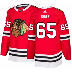 Chicago Blackhawks 65 Andrew Shaw Red Home Jersey