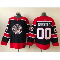 Men Adidas Chicago Blackhawks Clark Griswold 00 2020 21 Reverse Retro Alternate NHL Jersey