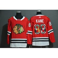 Men Chicago Blackhawks 88 Patrick Kane Red Fashion Adidas Jersey
