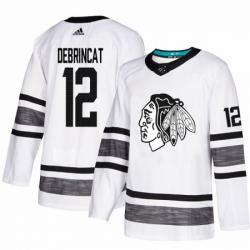Men's Adidas Chicago Blackhawks #12 Alex DeBrincat White 2019 All-Star Game Parley Authentic Stitched NHL Jersey