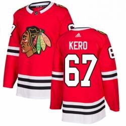 Mens Adidas Chicago Blackhawks 67 Tanner Kero Premier Red Home NHL Jersey