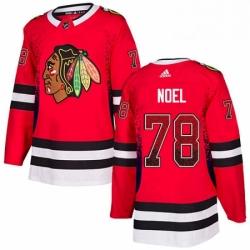 Mens Adidas Chicago Blackhawks 78 Nathan Noel Authentic Red Drift Fashion NHL Jersey