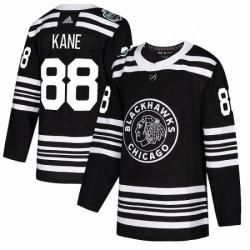 Mens Adidas Chicago Blackhawks 88 Patrick Kane Authentic Black 2019 Winter Classic NHL Jersey