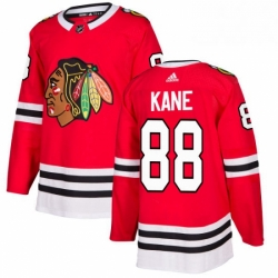 Mens Adidas Chicago Blackhawks 88 Patrick Kane Authentic Red Home NHL Jersey