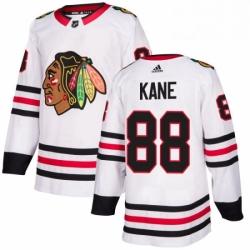 Mens Adidas Chicago Blackhawks 88 Patrick Kane Authentic White Away NHL Jersey
