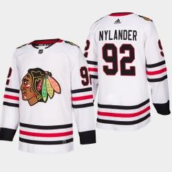 men blackhawks alexander nylander 2019 20 season away jersey white