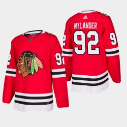men blackhawks alexander nylander 2019 20 season home jersey red