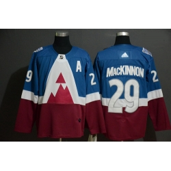 Avalanche 29 Nathan MacKinnon Blue Red 2020 NHL Stadium Series Adidas Jersey