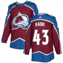 Avalanche #43 Nazem Kadri Burgundy Home Authentic Stitched Hockey Jersey