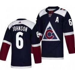 Men 6 Johnson Adidas Navy Jersey