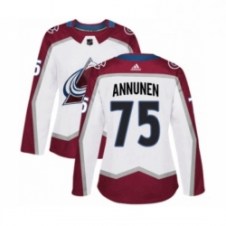 Womens Adidas Colorado Avalanche 75 Justus Annunen Authentic White Away NHL Jersey