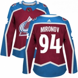 Womens Adidas Colorado Avalanche 94 Andrei Mironov Premier Burgundy Red Home NHL Jersey