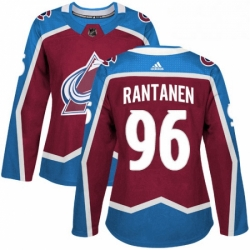 Womens Adidas Colorado Avalanche 96 Mikko Rantanen Authentic Burgundy Red Home NHL Jersey