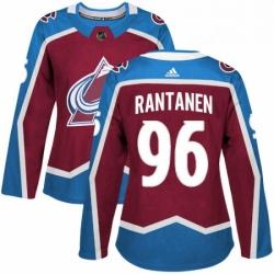 Womens Adidas Colorado Avalanche 96 Mikko Rantanen Premier Burgundy Red Home NHL Jersey