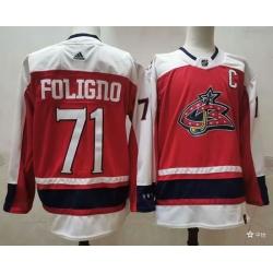 Men Columbus Blue Jackets 71 Nick Foligno Orange 2021 Retro Stitched NHL Jersey